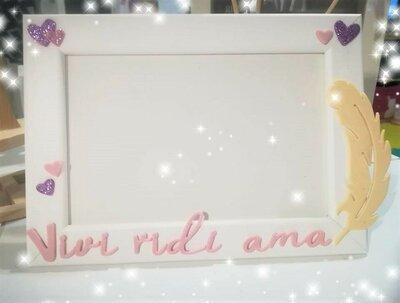 Cornice PORTA FOTO  VIVI RIDI AMA Regalo nonna mamma San Valentino Insegnanti Amici ❤
