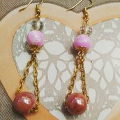 Pendenti perle rosa