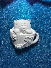 Orsetto nella tazza in gesso ceramico profumato per fai da te