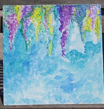 Pitture su tela ad acquerelli