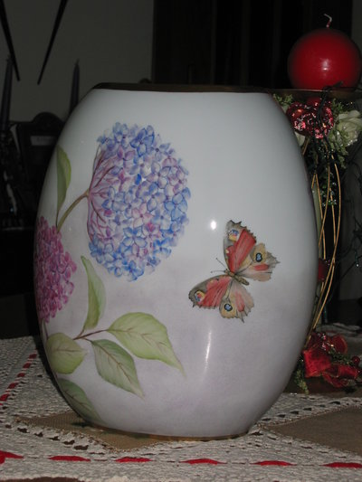 Vaso ortensie