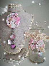 Completo Handmade ❤️ Cerbiatto Idea Mamma Rosa Decoupage