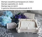 Stampo portasapone, stampo saponetta, stampo tag - vedi misure in foto