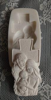Stampo croce sacra famiglia cm. 9x5