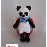 Panda amigurumi ad uncinetto