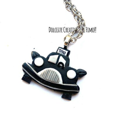 Collana Taxi Londinese - I love Londra - idea regalo macchina - miniature kawaii - handmade
