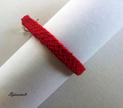 Bracciale da  uomo o donna portafortuna e protezione  rosso,fatto a mano