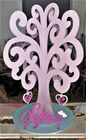 albero della vita in legno con nome personalizzato