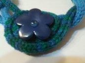 Collana lana e fiore