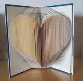 Book Folding, Folded Book, Libro Piegato, Libro Scultura , regalo di Natale, cuore 1
