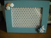 Su Ordinazione CORNICE NASCITA,CORNICE bebè con arcobaleno, con unicorno MODELLO in foto