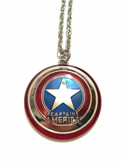 giulyscreations Collana Metallo Nichel Free Captain America Scudo Capitan America Supereroi Avengers The Winter Soldier Steve Rogers Fantasy Cosplay