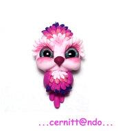 Collanina gufetto rosa