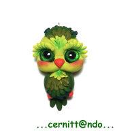 Collanina gufetto verde