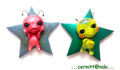 Set due calamite extraterrestri