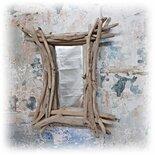 ALBERT specchio con legni di mare