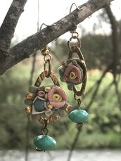 Gaia; Orecchini in ceramica