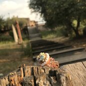 Anello con bottone vintage unico e irripetibile