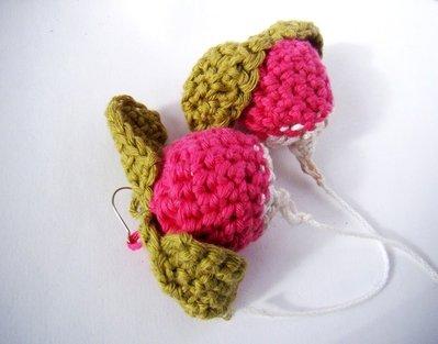 orecchini ravanello crochet