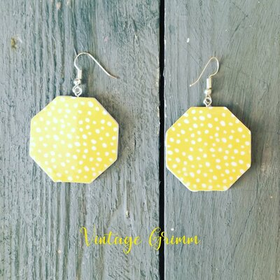 Paper summer earrings