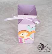 Scatolina portaconfetti lilla a tema sirenetta compleanno bimba