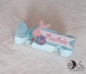 Scatolina caramella portaconfetti a tema sirenetta compleanno bimba coda di sirena