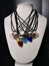 Collana cuore opale