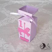 bomboniera portaconfetti scatolina giostra dei cavalli compleanno bimba