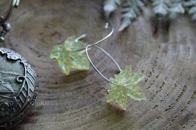 orecchini foglie gialle