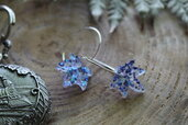 orecchini foglie blu