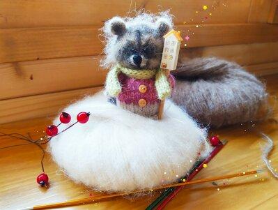 Bambola Amigurumi Procione a maglia
