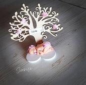 Bomboniera bebè con albero della vita