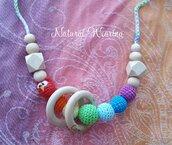 collana allattamento arcobaleno gufetto
