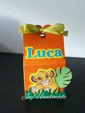 Scatolina re leone simba pumba lion king festa compleanno caramelle confetti segnaposto