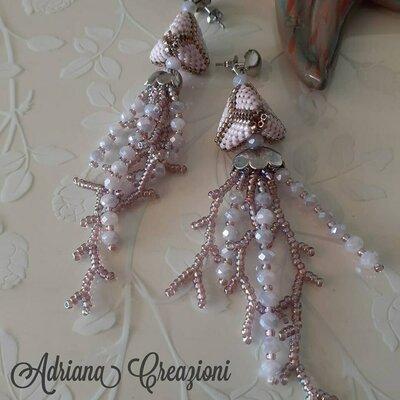 Orecchini Sigrid realizzati in tessitura peyote