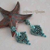 Orecchini Le Noir Daniela realizzati in tessitura peyote