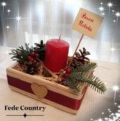 Cestino natalizio con candela