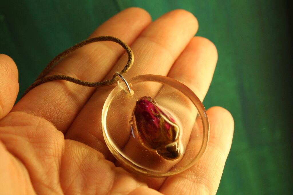 collana bocciolo di rosa