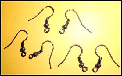 20 monachelle per orecchini, in ottone antico