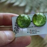orecchini bottoncino verde