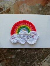 Toppa uncinetto arcobaleno
