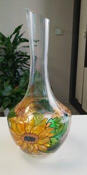 vaso in vetro decorato