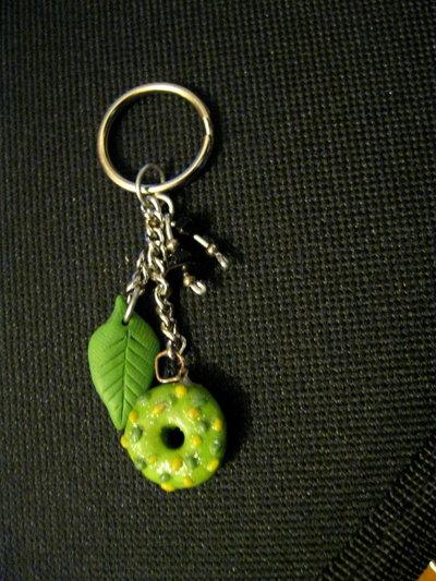 Portachiave green doughnut