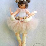 Bambola ballerina in stoffa- Bomboniere