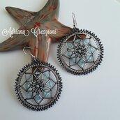 Orecchini Fedra realizzati in tessitura peyote