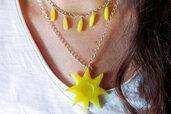 Giallo | Collana arcobaleno in resina | Handmade | Chrysalism