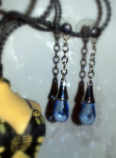 Orecchini Gocce Blu Handmade