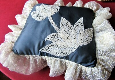 cuscino decorativo blu e bianco