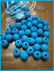Perla rigata 14 mm. colore azzurro