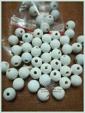 Perla rigata 14 mm. colore bianco